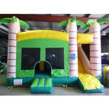 Green Combo jumping castle Front shot