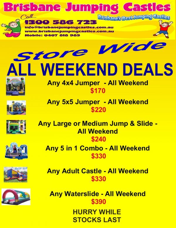 All Weekend deal Store Wide 2