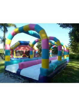 Waterslide Duel Lane Party House2